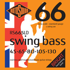 Rotosound RS665LD Swing Bass 66 Bass Strings 45-130 for Five String Bass