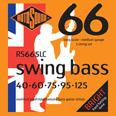 Rotosound RS665LC Swing Bass 66 Bass Strings 40-125 for Five String Bass
