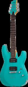 Schecter 428 C-6 Deluxe Electric Guitar Satin Aqua