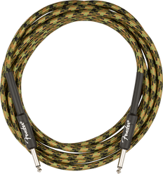 Fender Professional Series Instrument Cable, Straight/Straight, 18.6', Woodland Camo 099-0818-176