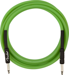 Fender 0990810119 Professional Glow in the Dark Cable, Green, 10'