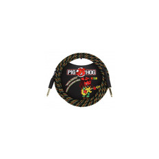 "Pig Hog ""Rasta Stripes"" Instrument Cable, 10ft 1/4""-1/4"""