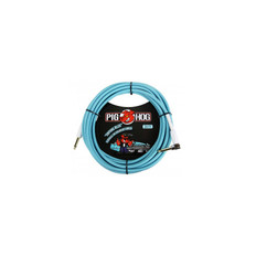 """Pig Hog """"Daphne Blue"""" Instrument Cable, 20ft Right Angle"""
