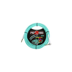 """Pig Hog """"Seafoam Green"""" Instrument Cable, 20ft Right Angle"""