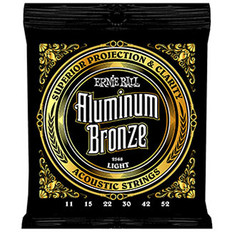 Ernie Ball 2568 Aluminum Bronze Acoustic Strings  Light 11-52