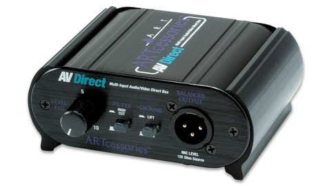 ART AVDirect 1-channel Passive, Multiple Input Direct Box