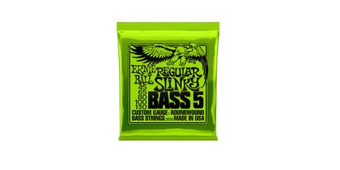 Ernie Ball 2836 Regular Slinky Nickel Wound 5 String Bass Guitar Strings