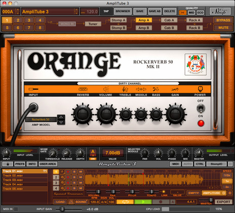 IK Multimedia Amplitube Orange Guitar Amp Effects