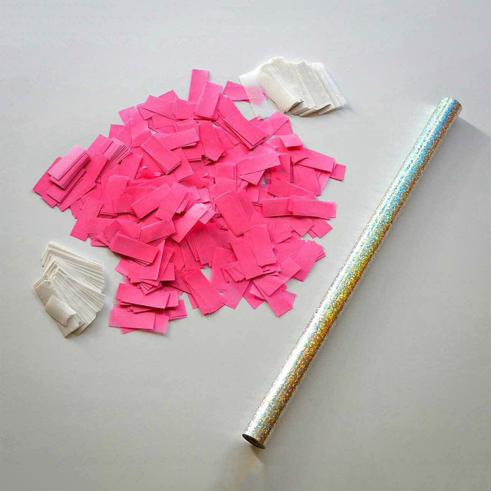 Gender Reveal - Pink Confetti Sticks (Pack of 10)