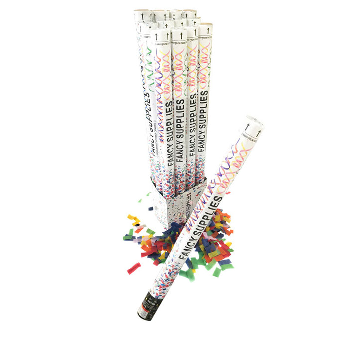 """Confetti Cannon 30"""" Multicolor Paper"""