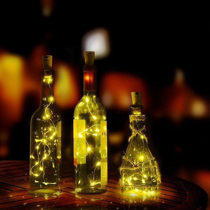 Wine Bottle String Lights