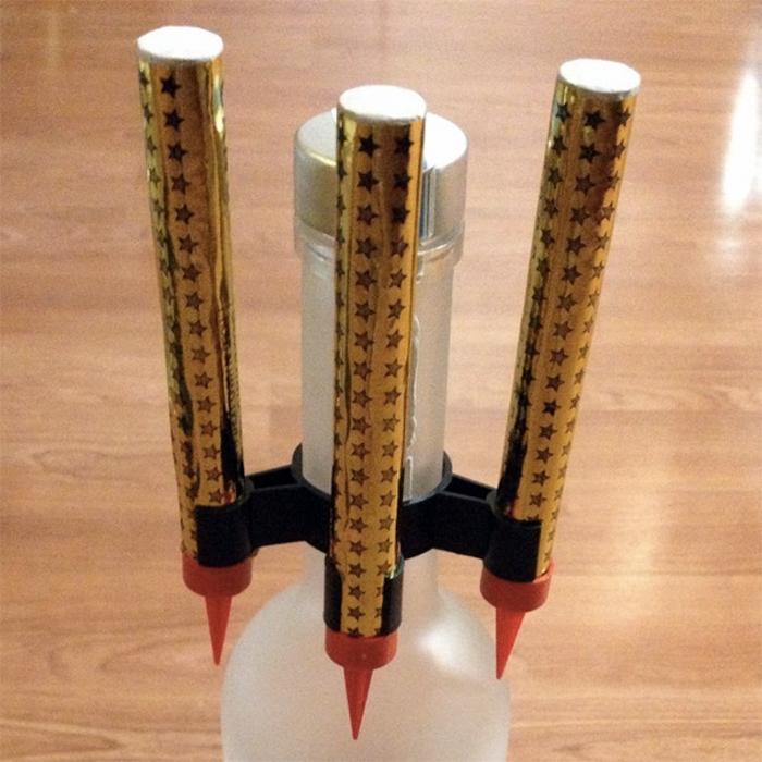 Bottle Sparkler Safety Clip - Triple