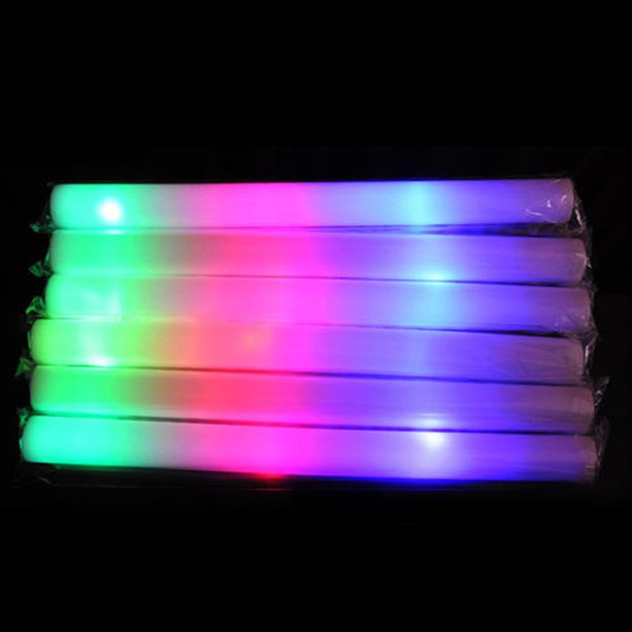 3 Mode - Plain LED Foam Sticks