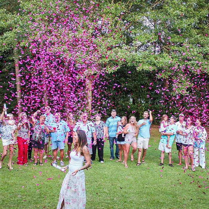 Gender Reveal Confetti Cannon (2 Pink & 2 Blue)