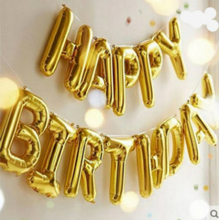 Jumbo Letters Balloons - Gold or Silver