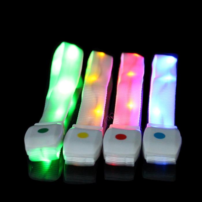 Party sound activated nylon LED bracelet