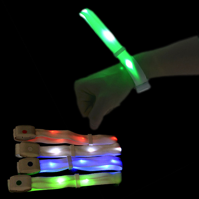 Party sound activated nylon LED bracelet