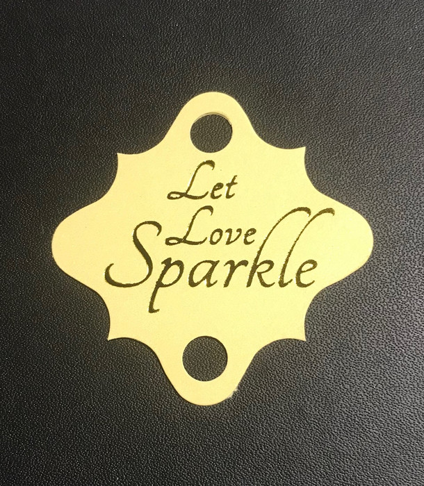 'Let Love Sparkle' Wedding Tags on Light Kraft. (pack of 24)