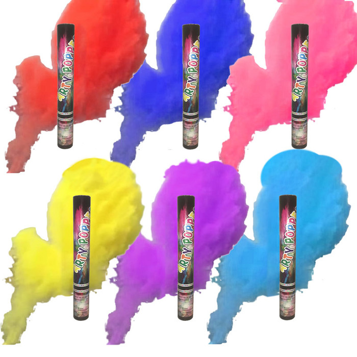 """Color Smoke Powder Cannon - 15"""" (Pack of 6, All Colors)"""
