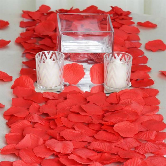 Red Silk Rose Petals (100 Piece)