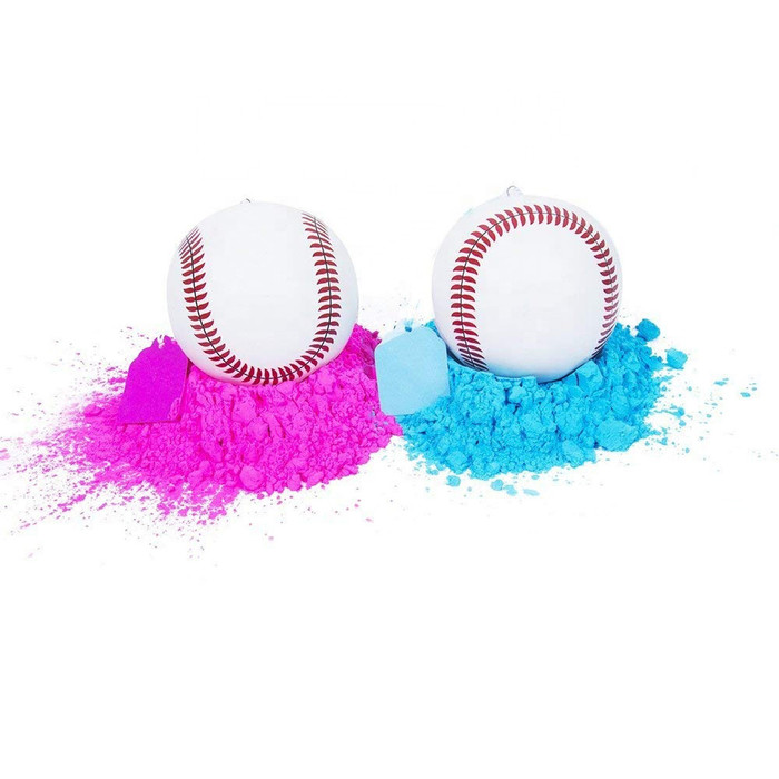 Gender Reveal Baseballs - (1 Pink & 1 Blue Baseball)