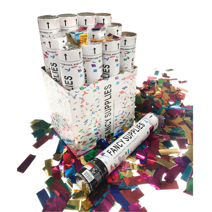 "12"" Confetti Cannon - Metallic Multi-Color"