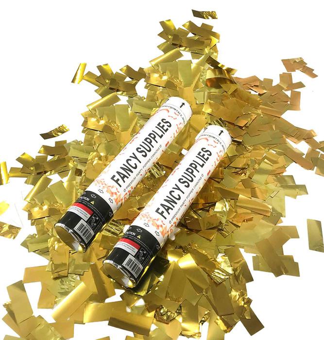 """12"""" Confetti Cannon - Metallic Gold"""