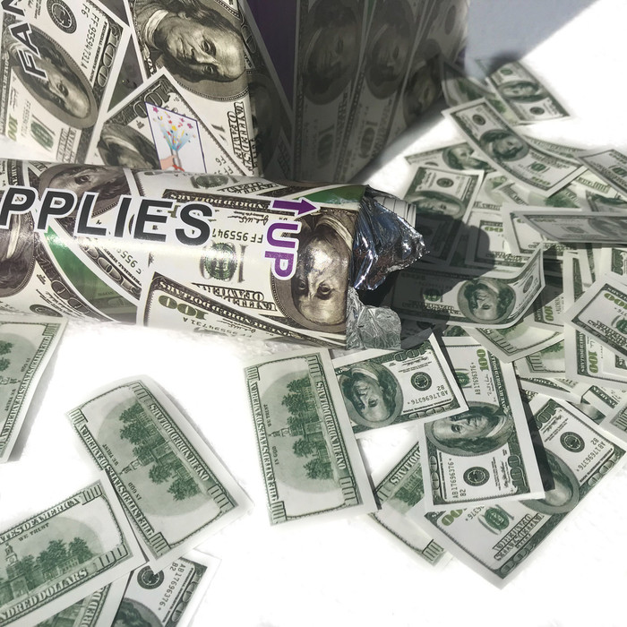 """12"""" Confetti Cannon - $100 Dollar"""