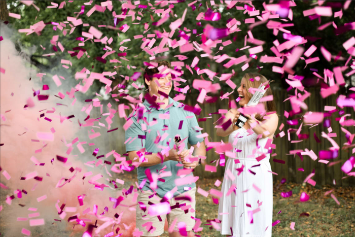 """12"""" Gender Reveal Confetti Cannon - Pink"""