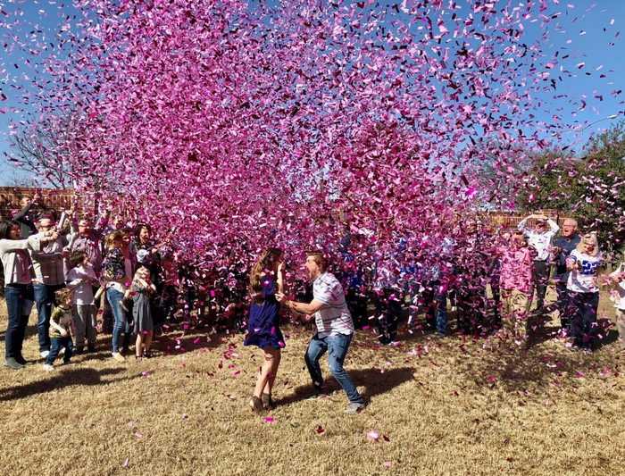 "12"" Gender Reveal Confetti Cannon - Pink"