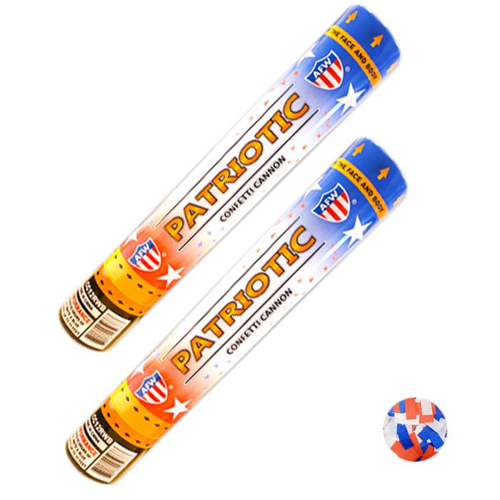 12″ Patriotic Confetti Cannons