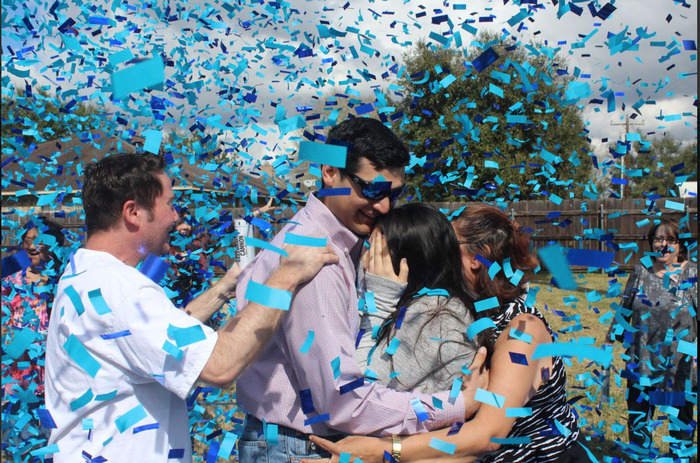 """12"""" Gender Reveal Confetti Cannons - Blue"""