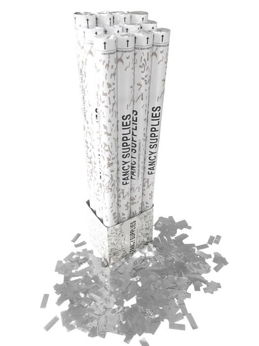 """30"""" Confetti Cannon - Metallic Silver"""