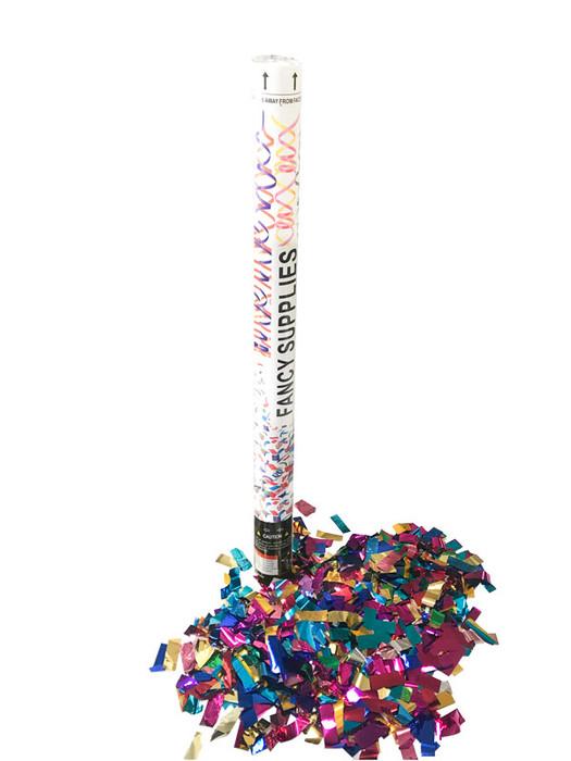 """30"""" Confetti Cannon - Metallic Multi-Color"""