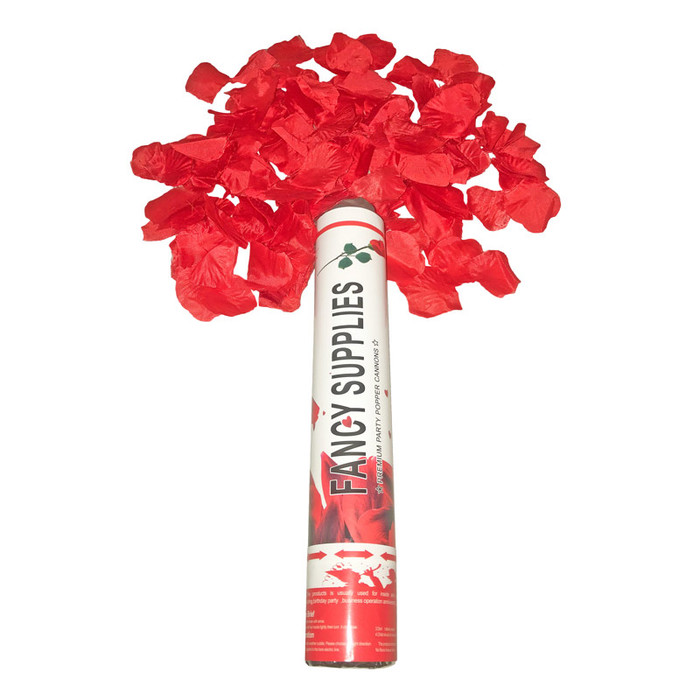 """12"""" Confetti Cannon - Artificial Red Rose Petals"""