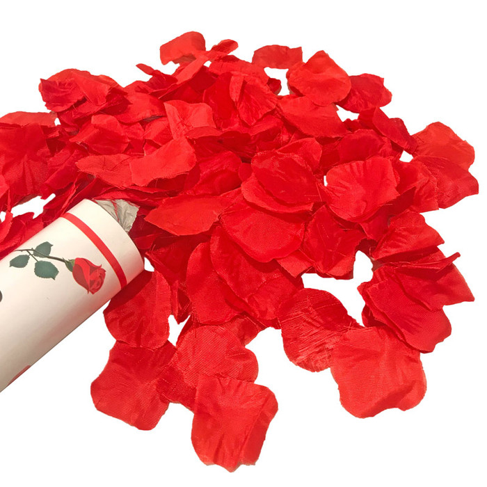 "12"" Confetti Cannon - Artificial Red Rose Petals"