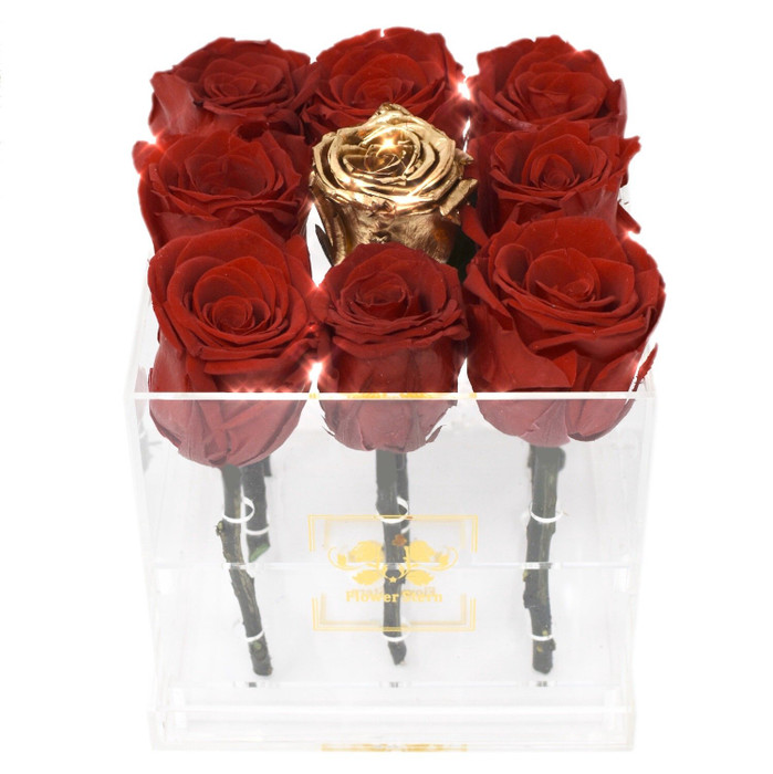 The One Eternal Roses Collection in Diamond Cut Acrylic Box