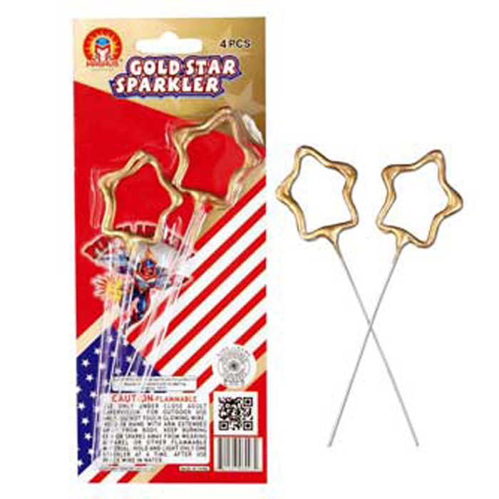 Star Sparklers Gold Coated (Pack of 4)
