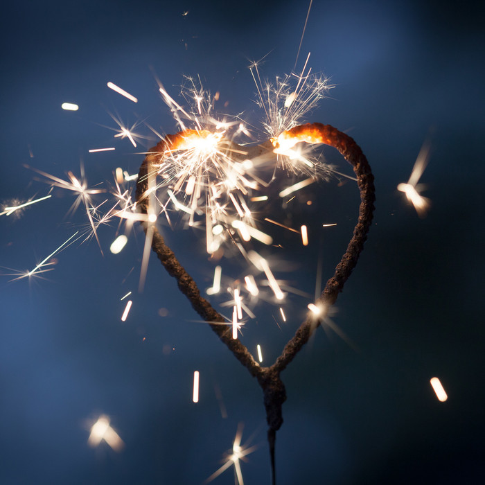 Heart Sparklers - 12""