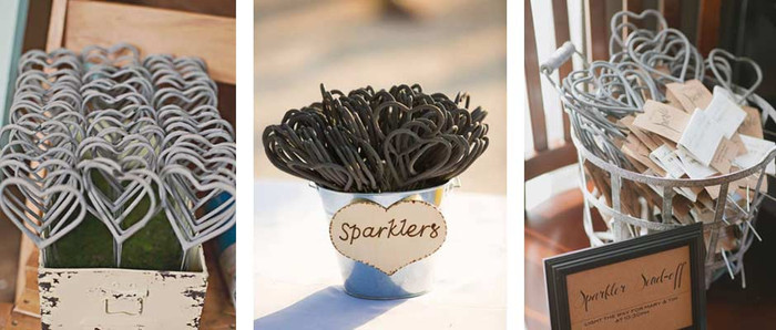 Heart Sparklers for your wedding reception