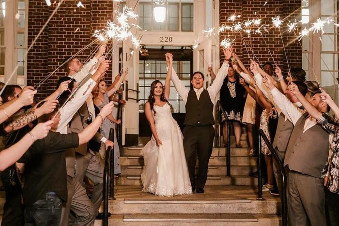Unforgettable Wedding Sparkler Display