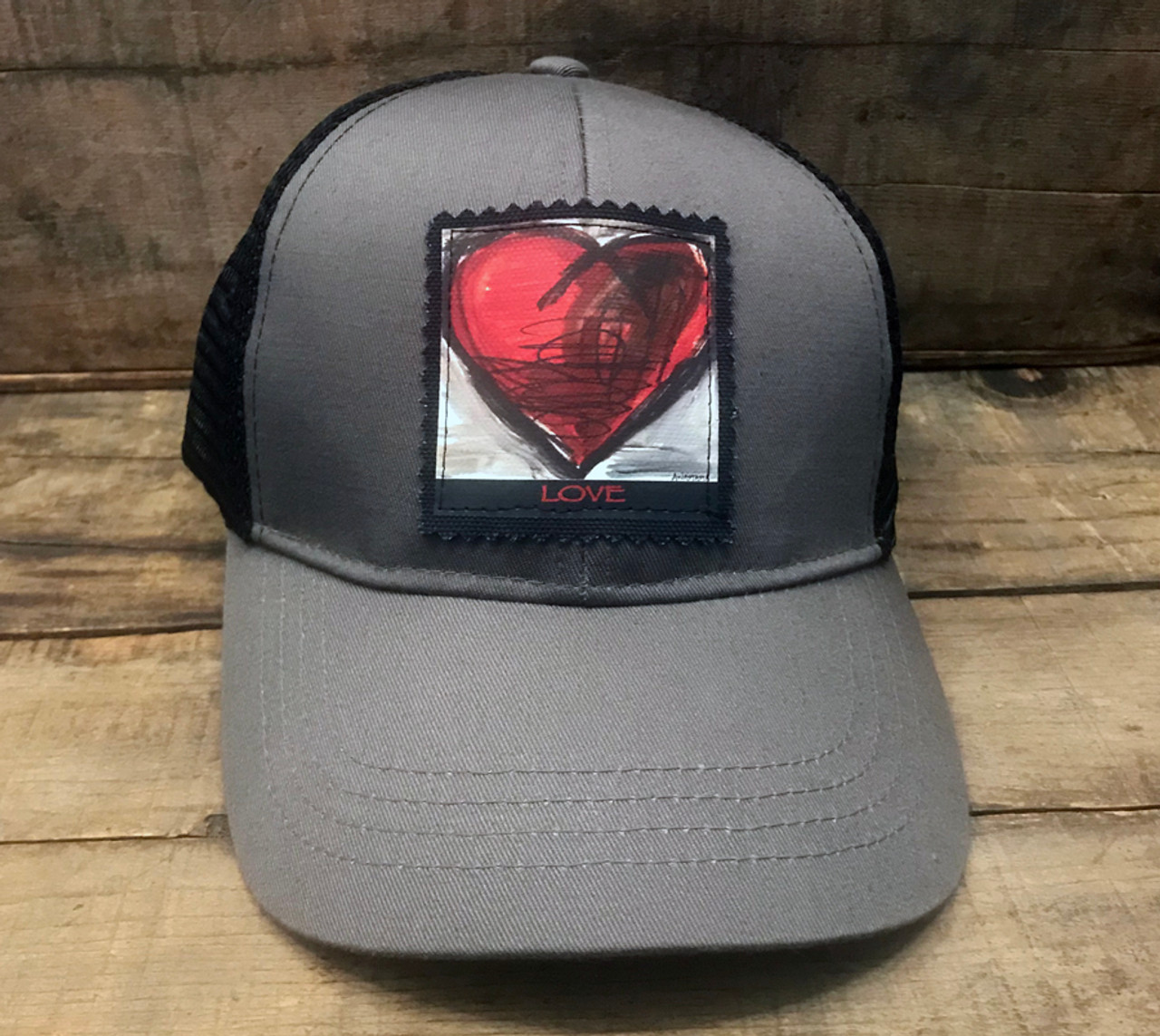 f238273d70 Falling into Ecstasy Heart Keep on Truckin  Organic Cotton Recycled Polyester  Trucker Hat