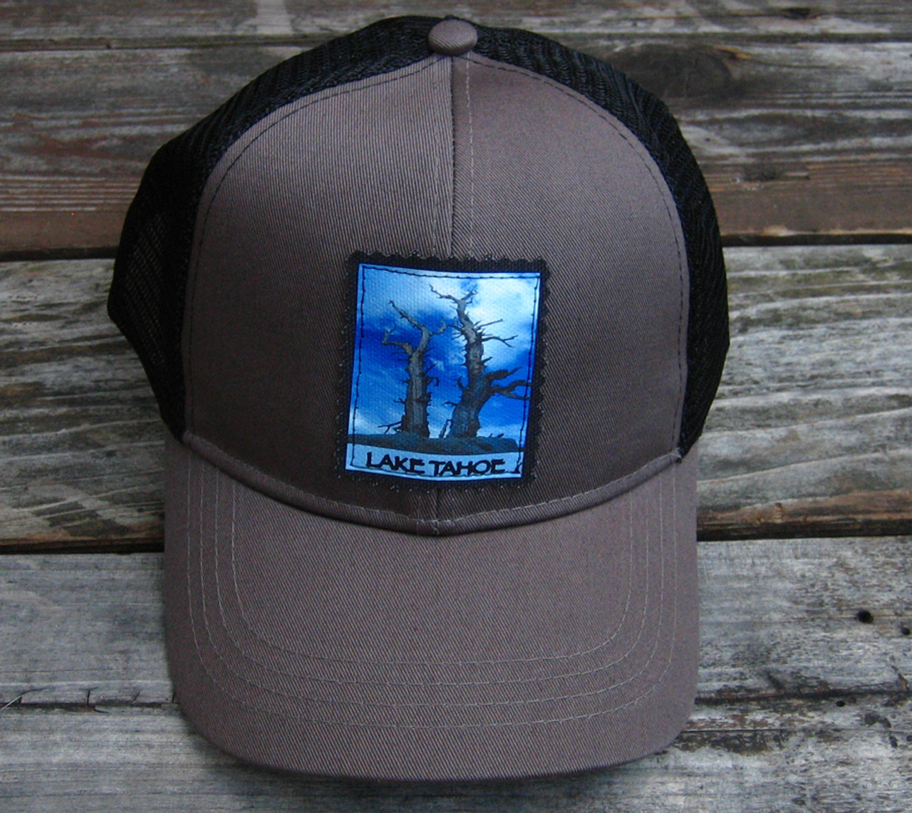 dfcde8eee3f Snags above Lake Tahoe Keep on Truckin Organic Cotton Trucker Hat ...