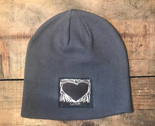 Primal Love Heart Organic Cotton Beanie Hat