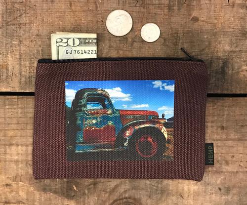 Truck in Taos Medium & Large Hemp Coin Purse