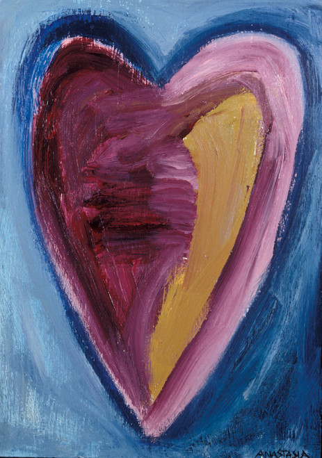 Besitos Dulces (sweet Kisses) Heart Painting