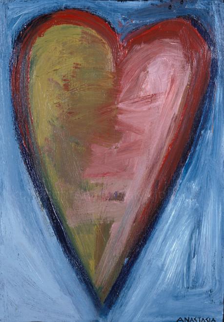 Espiritu de la tierra, Espiritu del mar (Spirit of the land, Spirit of the sea. Heart Painting