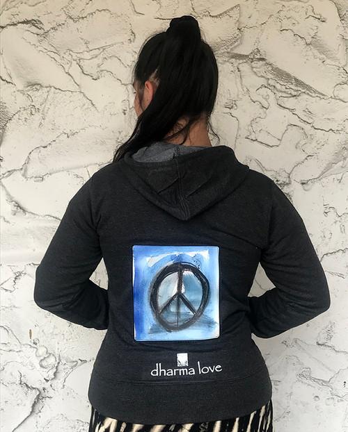 Peace Sign Dharma Bum Organic Cotton/Recycled Polyester Women's Sweatshirt/Hoodie