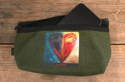 Night & Day Heart Hemp Hip Pack & Cross Body Bag