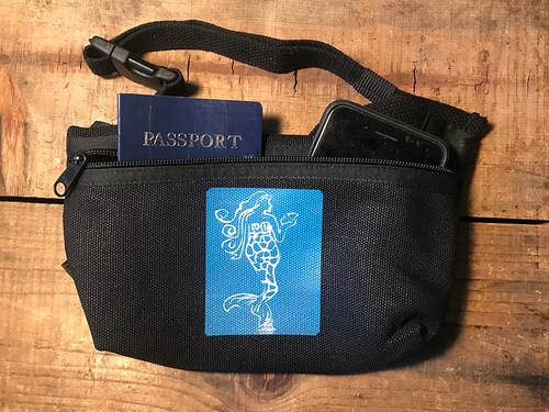 Mermaid (Block Print) Hemp Hip Pack & Cross Body Bag